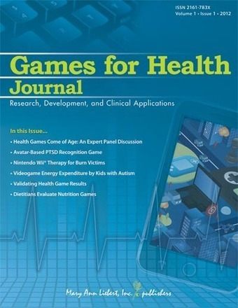 "[JOURNAL] ""GAMES for HEALTH"" Issue n°1, January 2012 
