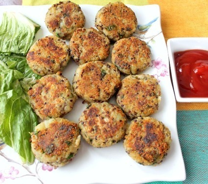 Quinoa Potato Cakes (Quinoa Aloo Tikkis) | Food for Foodies | Scoop.it