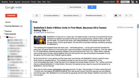 Google Reader : Refonte graphique et liaison avec Google Plus | Social Media Curation par Mon Habitat Web | Scoop.it