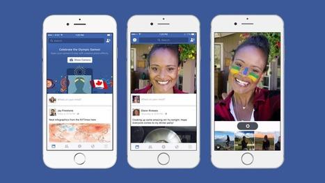 Facebook imite les filtres et stickers de Snapchat - Influenth | #Communication #Marketing #Digital #Stratégies #Réputation #Socialmedia | Scoop.it