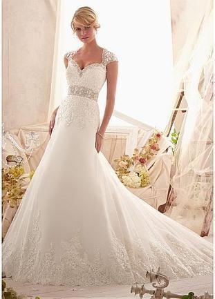 [249.99] Elegant Tulle Sweetheart Neckline Natural Waistline A-line Wedding Dress - Dressilyme.com | lovely girl | Scoop.it