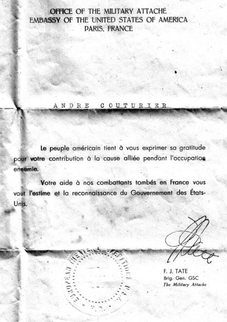 La lettre de remerciement de l'ambassade des Etats-Unis aux FFI | Haute-Normandie | Scoop.it