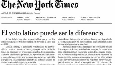 Así hizo el 'New York Times' su primer editorial (impreso) en español | Todoele - ELE en los medios de comunicación | Scoop.it