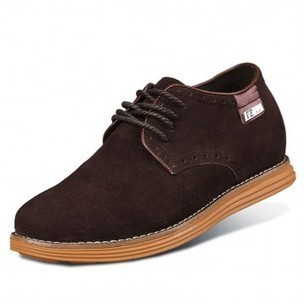 New Coffee Height Suede Leather Casual Shoes Add Taller 6cm / 2.36 inch Walking Shoes on sale at topoutshoes.com | Elevator Casual shoes men height increasing Taller | Scoop.it