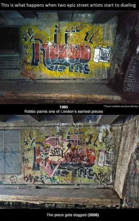 Banksy VS. Robbo – L'histoire de 26 ans d'affrontements sur le même mur ! | Street Art, échappatoire de l'oeil | Scoop.it