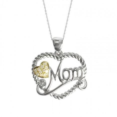 Shop Mom Diamond Pendant with 18 Inches Chain   Myglitzjewels   myglitzjewels   Scoop.it