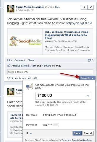 12 Tips When Using Facebook Promoted Posts | Social Media Examiner | SM | Scoop.it