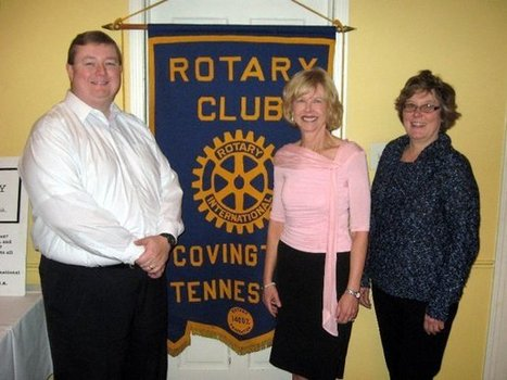 "Photo: Susan Cheairs, director of the Tipton County Public Library in Covington, was recently the guest speaker at the Covington Rotary Club. Cheairs presented an informative program on ""The Past, ... 