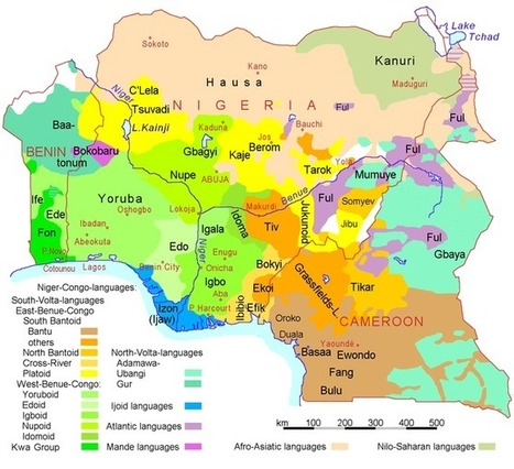 dynamicafrica: Map showing the distribution of... | Nigerian Entertainment | Scoop.it
