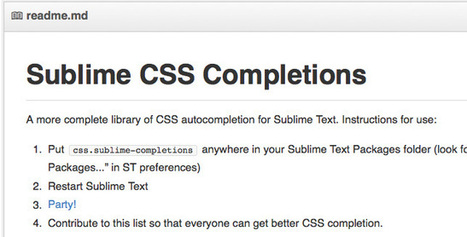 Sublime CSS Completions: A more complete library - CodeVisually.com | coolwebworks | Scoop.it