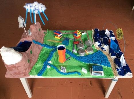 #eaudefi La maquette augmentée sur l'eau @Les_Nous_Nours by trilolet | Vie numérique  à l'école - Académie Orléans-Tours | Scoop.it