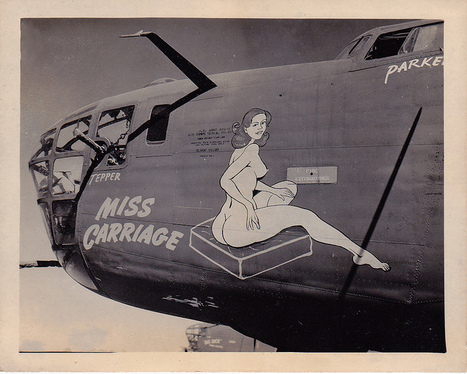 A little nose art | Flickr - Photo Sharing! | WW2 Bomber - Nose Art | Scoop.it