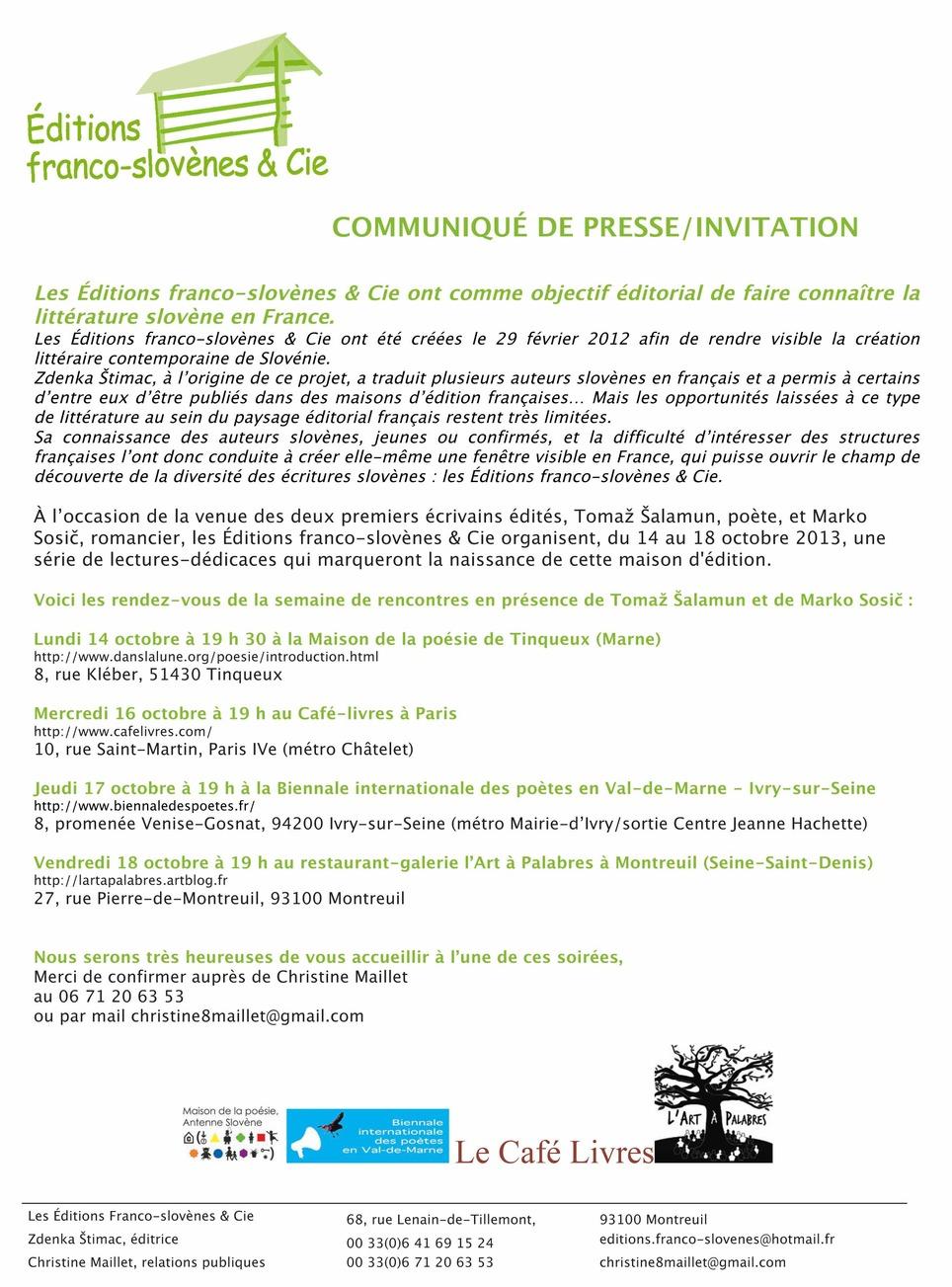 [édition] Editions franco-slovènes & cie | Poezibao | Scoop.it