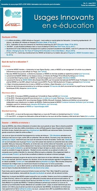 Usages innovants en e-éducation   Modèles pédagogiques des MOOC   Scoop.it