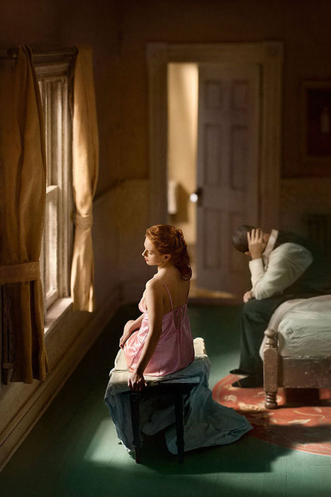 Incredible Composite Photographs Inspired by Edward Hopper | Emotional triggers | Scoop.it