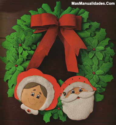 Taller de MAnualidades de Navidad. Corona de Acebo de Fieltro ... | Taller Artesanal Moxi | Scoop.it