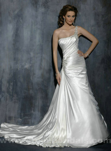 Only Price - $323.00 wedding dresses - Style Maggie Sottero Desirae Lace And Satin A-Line For sale | Maggie-Sottero 2013 | Scoop.it