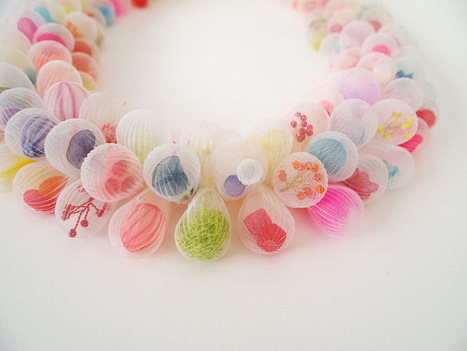 New #Wearable #Textile #Sculptures by Artist Mariko Kusumoto #art #jewelery | Luby Art | Scoop.it