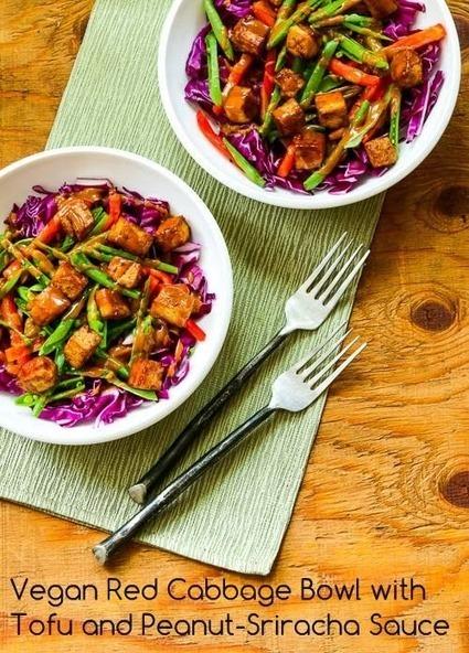 Kalyn's Kitchen®: Vegan Red Cabbage Bowl with Tofu and Peanut-Sriracha Sauce | My Vegan recipes | Scoop.it