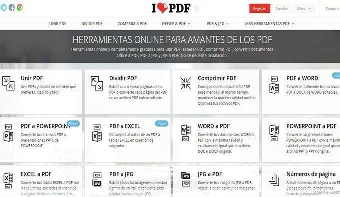 I Love PDF: muchas aplicaciones online para editar archivos PDF