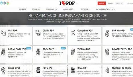 I Love PDF: muchas aplicaciones online para editar archivos PDF | Con visión pedagógica: Recursos para el profesorado. | Scoop.it