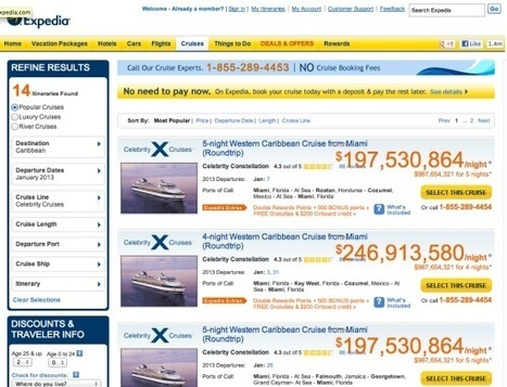 Expedia tries to sell a $250M-per-night cruise trip [IMAGE] | Hospitality Technology | Scoop.it