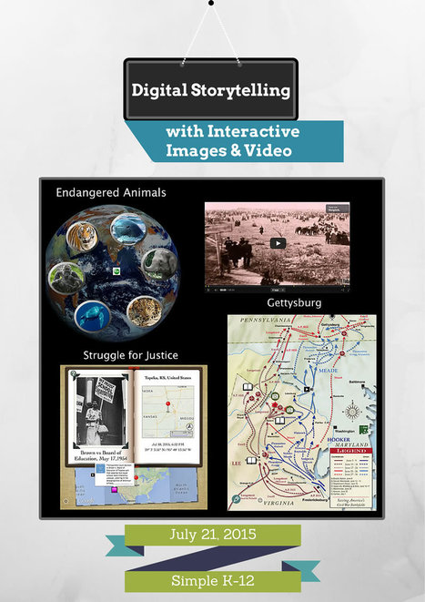 Free Webinar: Digital Storytelling with Interactive Images & Video | Cool Tools for 21st Century Learners | Webdoc & Formazione | Scoop.it
