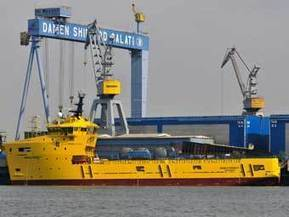 Damen Galati delivers second PSV 3300 - Marine Log | OSV | Scoop.it
