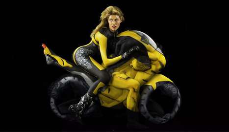 The Human Motorcycle -Body Paint and Photography | Motorcycle Photos | Scoop.it