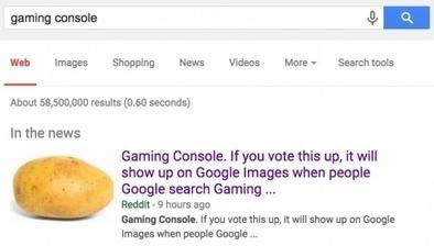 Quand Google confond une patate avec une console de jeux vidéo - Rue89 | Going social | Scoop.it