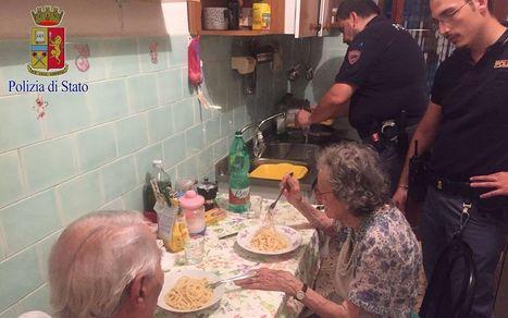 Italie : l'émouvante soirée de policiers avec un couple malade de solitude | Société et vieillissement en France | Scoop.it