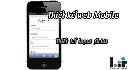 Thiết kế web cho Mobile: thiết kế input | Thiết kế web | Scoop.it