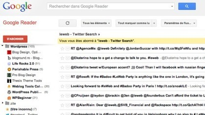 Utilisez Google Reader pour archiver vos tweets | Time to Learn | Scoop.it