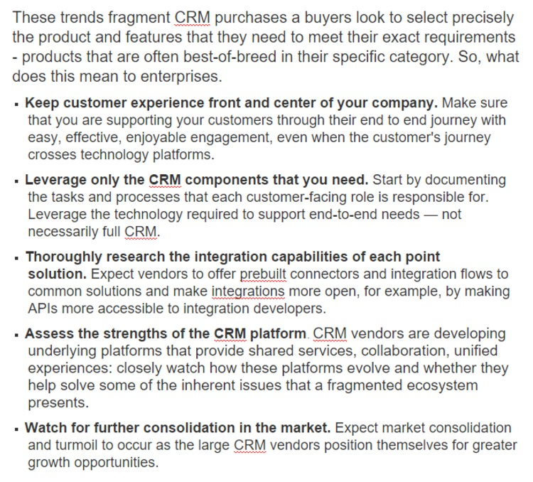 CRM is Fragmenting. It's A Controversial Topic - Forrester | The Marketing Technology Alert | Scoop.it