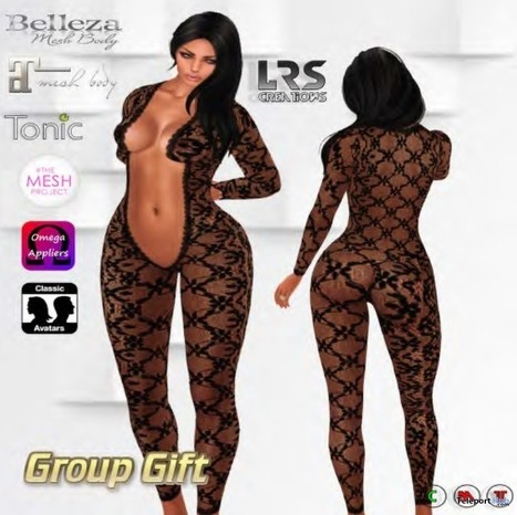 Jadore Lace Jumpsuit Group Gift by LRS Creations | Teleport Hub - Second Life Freebies | Second Life Freebies | Scoop.it