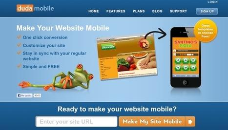 Dudamobile – no dudes en crear la versión web móvil de tu sitio web   Aplicaciones y Herramientas . Software de Diseño   Scoop.it