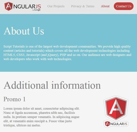 Responsive website using AngularJS | JavaScript Master | Scoop.it