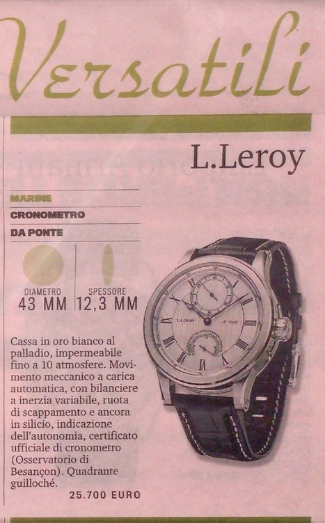 Gazzetta Sportiva - IT - 20th July 2014 | Montres L.Leroy | L.Leroy Watches | Scoop.it