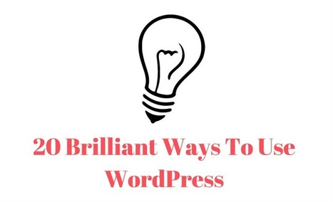 20 Brilliant Ways To Use WordPress | Free & Premium WordPress Themes | Scoop.it