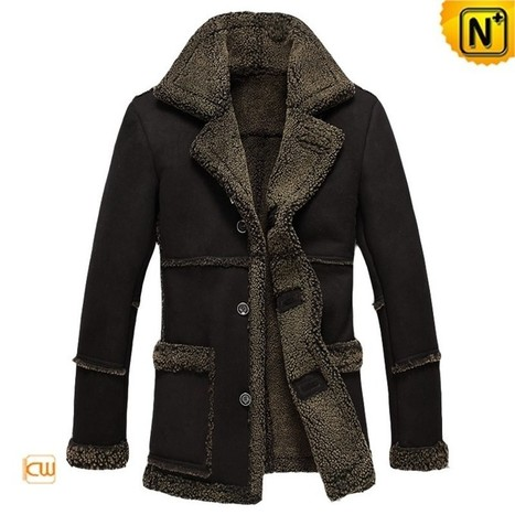 CWMALLS® Black Shearling Leather Jacket CW878257 | Leather Trench Coat | Scoop.it