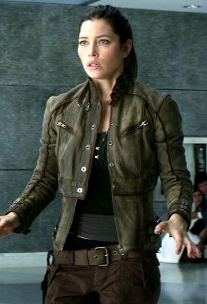 Total Recall Melina Black Leather Jacket | The Hunger Games Leather Jacket | Scoop.it