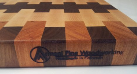 End Grain Walnut, Cherry & Rock Maple Butcher Block is Impeccable Handmade Piece | Armani Fine Woodworking | Scoop.it