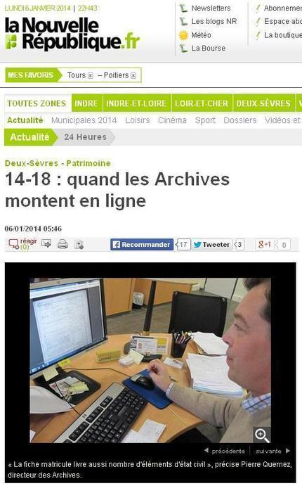 Article du jour (28) : AD 79, Matricules des Deux-Sèvres en ligne | CGMA Généalogie | Scoop.it