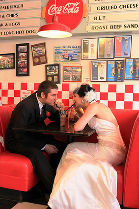 Anastasia & Brian's retro rock 'n' roll back yard wedding | The Top 5 Wedding Theme Ideas | Scoop.it