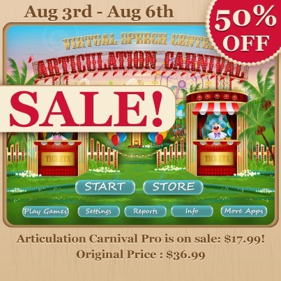 Articulation Carnival Pro App : 50% OFF | Speech and Language Therapy Apps | Scoop.it