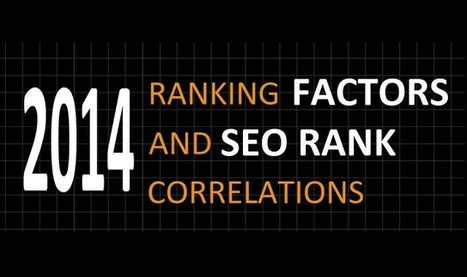 2014 Ranking Factors And SEO Rank Correlations - Infographic Online | 911branding | Scoop.it