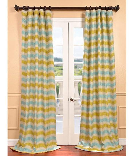 Espen Citron Faux Silk Jacquard Curtains and Drapes for Window Treatment | window curtains | Scoop.it
