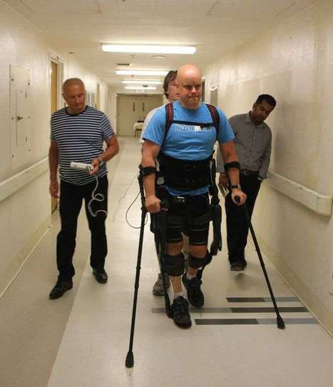 Completely paralyzed man steps out in robotic exoskeleton | The future of medicine and health | Scoop.it