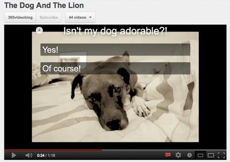 YouTube da un paso más en la interactividad de sus vídeos y ahora permite insertar preguntas | Interactividad | Scoop.it