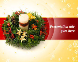 Christmas Wreath PowerPoint Template   Free Powerpoint Templates   Christmas Ideas and Gifts   Scoop.it